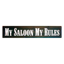 My Saloon Wooden Sign