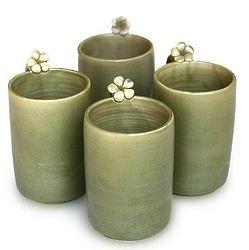 Frangipani Brew Ceramic Mugs