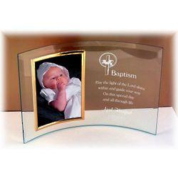 Personalized Christening, Baptism or Dedication Glass Frame