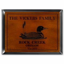 Personalized Loon Cabin Sign
