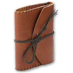 "Refillable 4 x 6"" Leather Journal"
