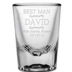 Personalized Best Man Shot Glass