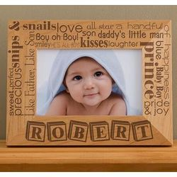 Personalized Pride and Joy Horizontal Baby Photo Frame