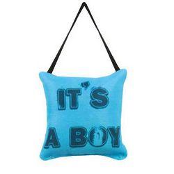 It's a Boy Word Pillow Doorknob Decoration