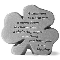 A Sunbeam Shamrock Blessing Stone