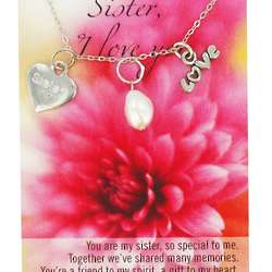 I Love You Sister Necklace with Poem