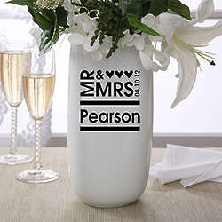 Personalized Mr. and Mrs. Flower Vase