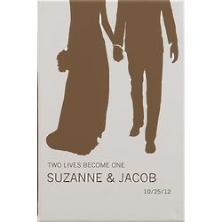 Personalized Bride and Groom 12x18 Wedding Art