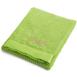 Bright Green Ribbed Blanket