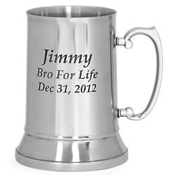 20 Ounce Stainless Steel Personalized Beer Mug