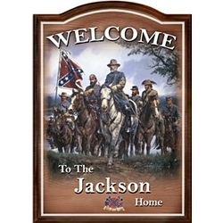 Civil War Personalized Welcome Sign Wall Decor
