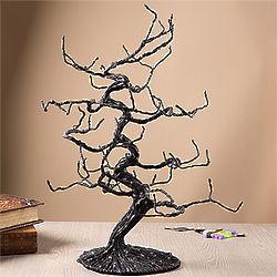Ghoulish Glitter Halloween Ornament Tree