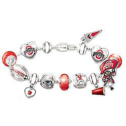 Ohio State Buckeyes Fan Charm Bracelet