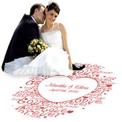 Personalized Love Forever Wedding Heart Dance Floor Decal