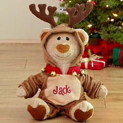 Personalized Reindeer Bear