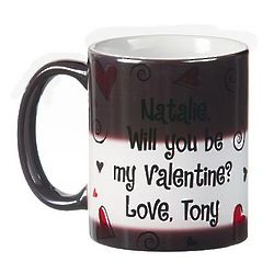 Personalized Valentine Hearts Hot Liquid Mug