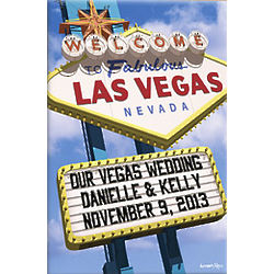 Welcome to Las Vegas 24x36 Personalized Canvas Wall Art