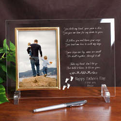 Following In Your Footsteps Personalized Father's Day Glass Frame
