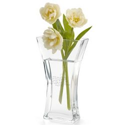Hourglass Glass Vase