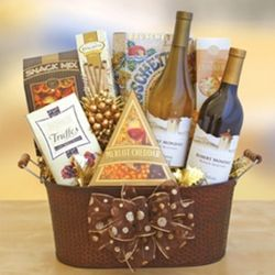 Fall Retreat Wine and Snacks Tub
