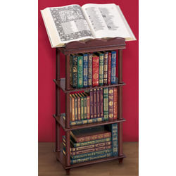 4 Tiered Wood Book Stand