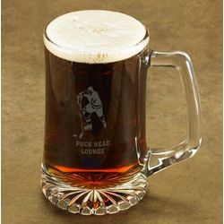 Personalized Hockey Beer Stein