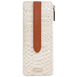 Capistrano Leather Credit Card Case with Zippered Pocket