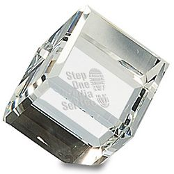 Personalized Crystal Cube Paperweight