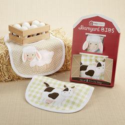 Barnyard Animals Baby Bibs Set