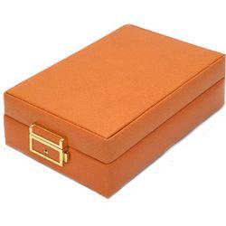 Leather Jewelry Case in Orange