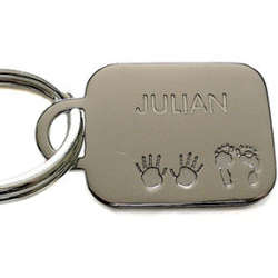 Personalized Birth Key Chain for Dad