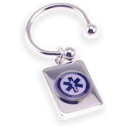 Personalized EMT Rectangular Key Chain