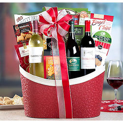 Wine Country Holiday Treasures Gift Basket
