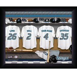 Personalized Toronto Blue Jays MLB Locker Room Print