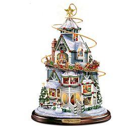 Thomas Kinkade the Night Before Christmas Centerpiece with Sleigh