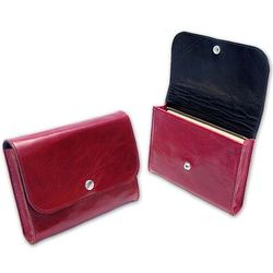 Custom X-Large Leather Lined Book Pouch