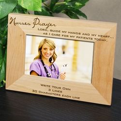 Personalized Nurse Prayer Frame