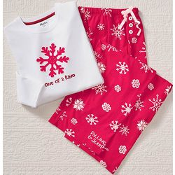 One of a Kind Snowflake Pajama Set with Adjustable Drawstring