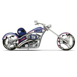 Cruising with the New York Giants Motorcycle Figurine