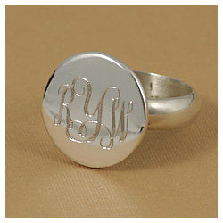 Personalized Round Ring