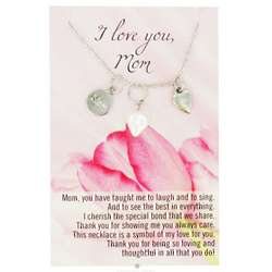 I Love You Mom Necklace with Poem