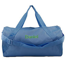 Blue Personalized Children's Duffel Bag