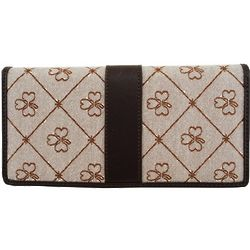 Faux Leather Shamrock Wallet