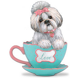 A Cup of Love Shih Tzu Teacup Figurine