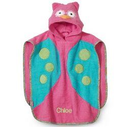 Owl Hooded Bath Towel