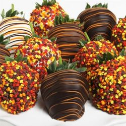 Gourmet Fall Harvest Chocolate Covered Strawberries