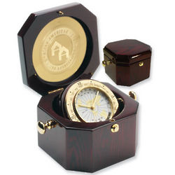 Engravable Grand Admiral Time Chest Clock