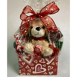 Pick of the Litter Plush and Candy Gift Basket