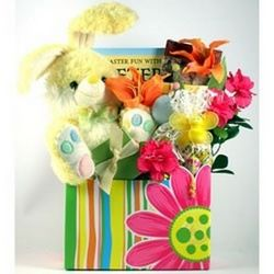 Sweets and Stuffed Bunny Hippity Hoppity Easter Gift Basket