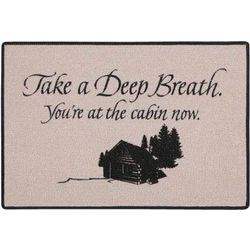 Take a Deep Breath You're at the Cabin Now Doormat